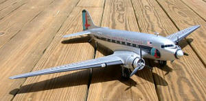Revell DC-3 plastic model by Kirt Blattenberger - Airplanes and Rockets