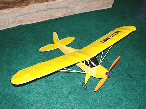 GWS J-3 RC airplane