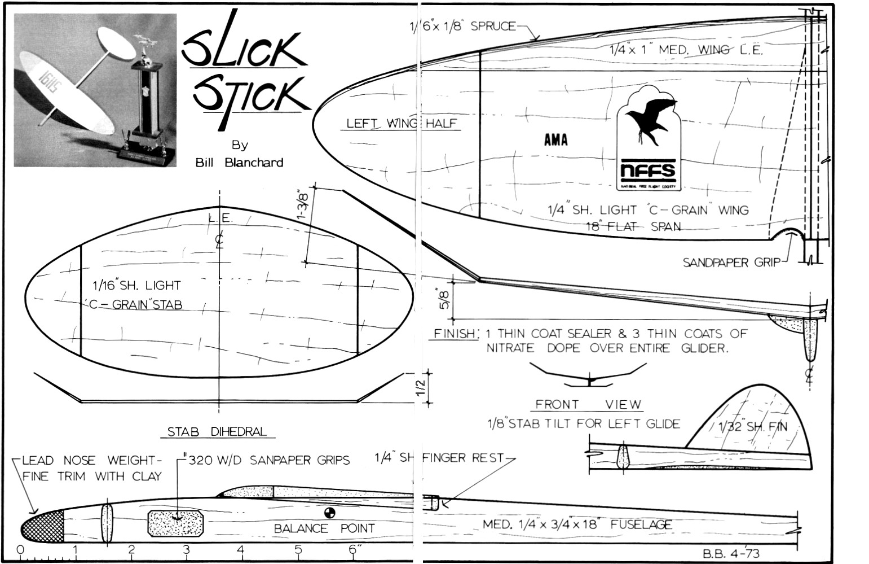catapult balsa glider plans