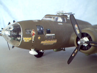 Revell plastic B-17 Flying Fortress model nose by Philp & Kirt Blattenberger - Airplanes and Rockets
