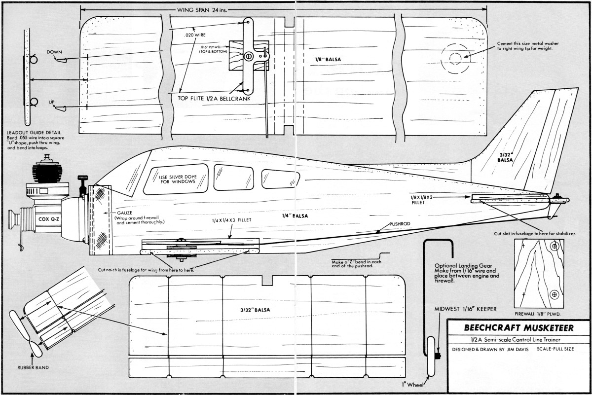 Beechcraft Musketeer Plans and Article, March 1969 American