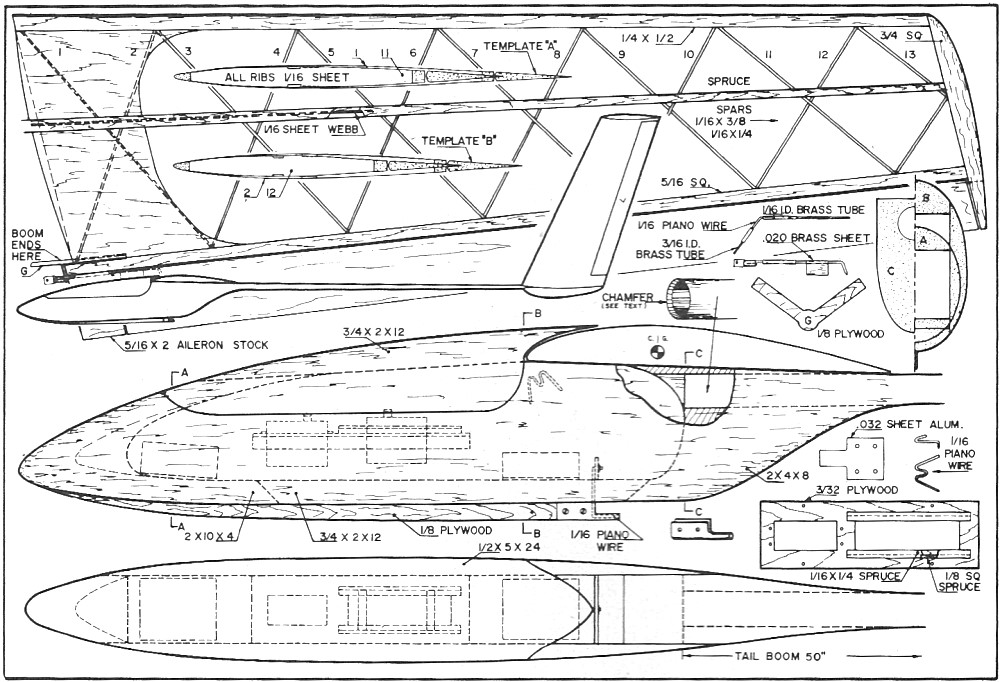 Woodwork Rc Glider Plans PDF Plans