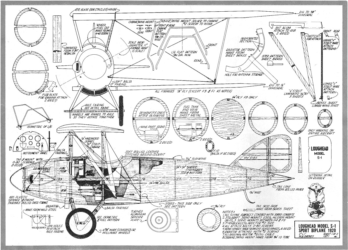 Projets Rc Model Plane Plans for Pinterest