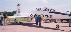 Philip & Sally Blattenberger with T-38 Trainer - Airplanes and Rockets