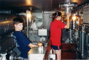 Philip & Sally in USS North Carolina - Airplanes and Rockets