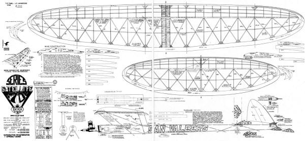 Airplanes and Rockets - Satellite 1000 Class C Free Flight Airplane Plans from the May 1972 American Aircraft Modeler