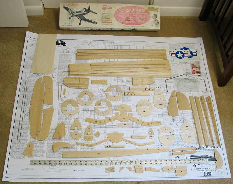 Chance Vought F4u 1 Corsair Sterling Models C L Kit Airplanes And