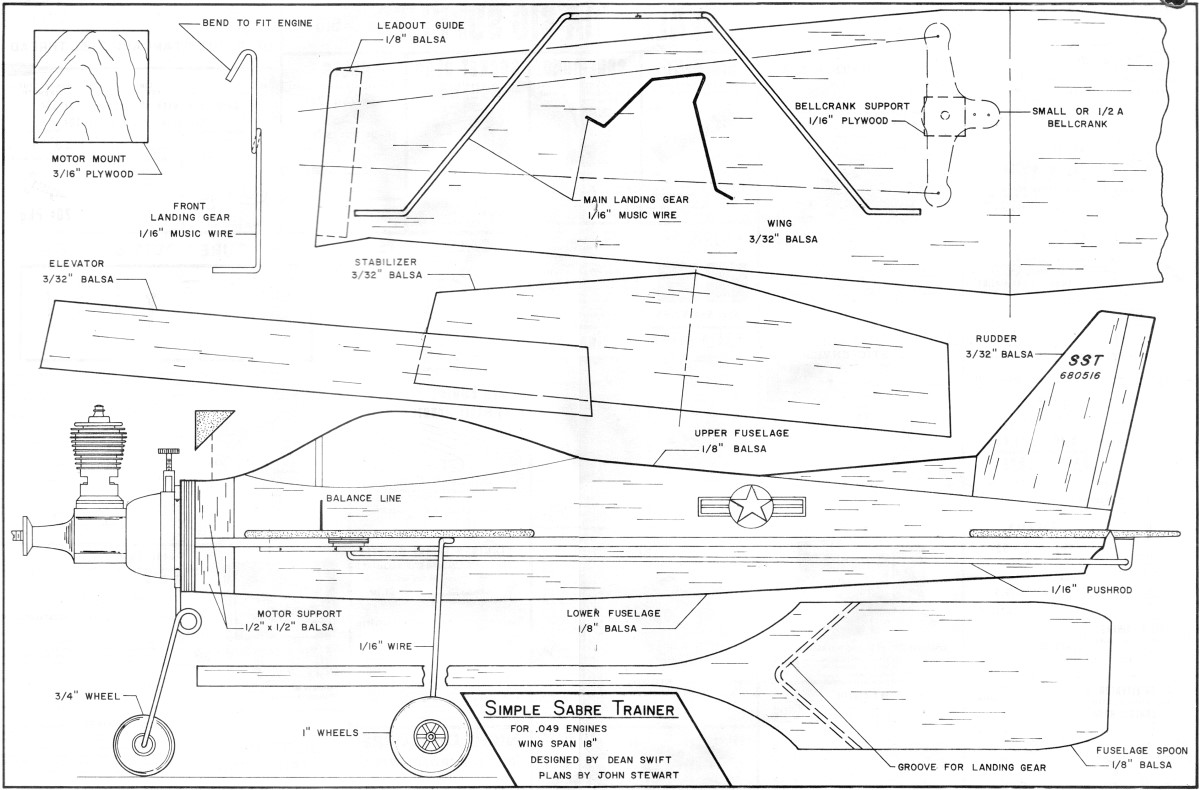 Super Sabre Trainer Plans May 1972 American Aircraft Modeler Engine Diagram Aam Airplanes And Rockets