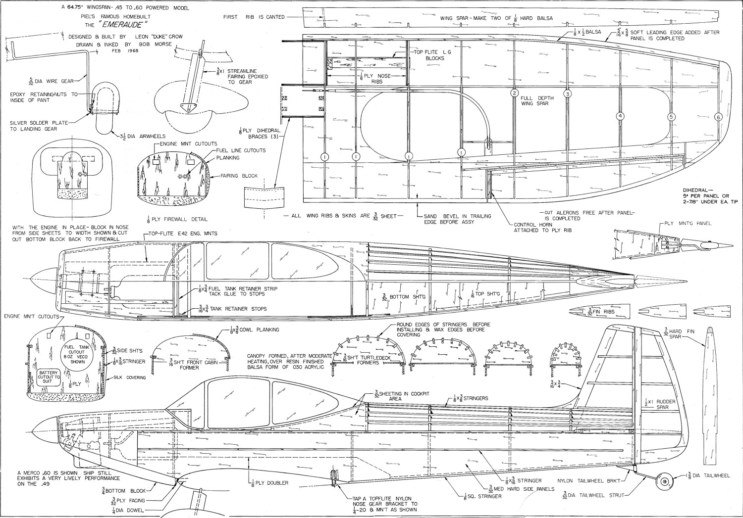 Free home built airplane plans