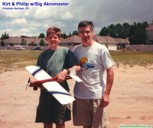 Kirt & Philip Blattenberger with Sig Akromaster in Colorado Springs, CO (circa 2000) - Airplanes and Rockets