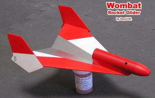 Wombat Rocket Boost Glider (David Warner) - Airplanes and Rockets