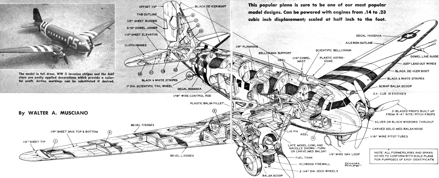 Build Your Own Douglas C-47 Article & Plans World's Most ... on