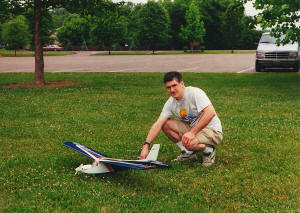 Kirt with Carl Goldberg Mirage 550, Fairfield, OH 2000 - Airplanes and Rockets