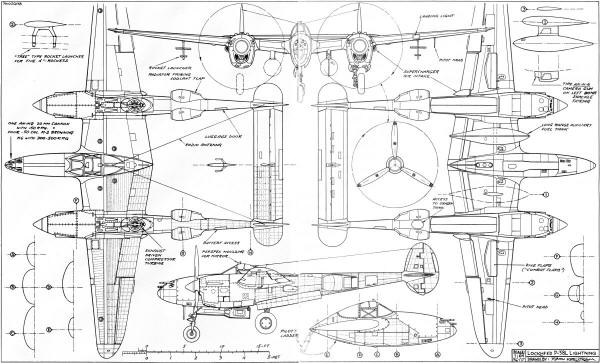 Lockheed P 38 Lightning Schematics Lockheed Free Engine