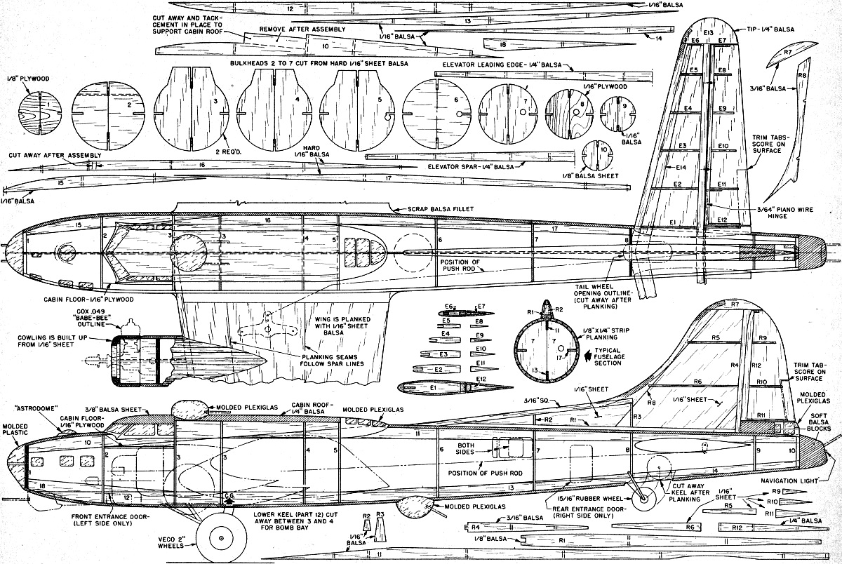 retracting gear b 17g control liner article plans retracting gear b 17 control liner plans fuselage airplanes and rockets