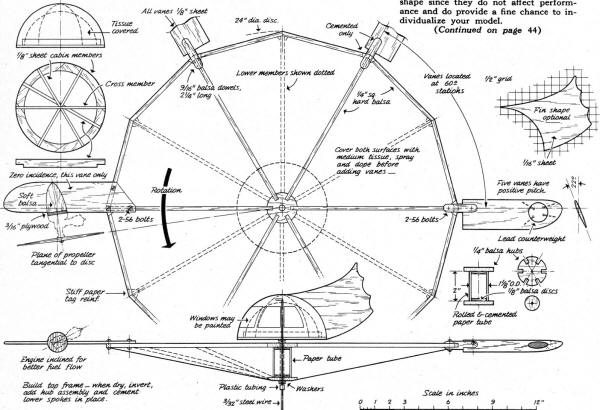 Spinning Disc Saucer Plans - Airplanes and Rockets