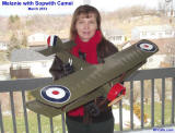 Supermodel Melanie with Sopwith Camel (top view) - Airplanes and Rockets