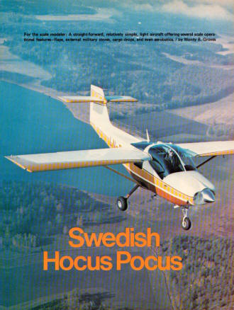 Swedish Hocus Pocus, December 1974 American Aircraft Modeler - Airplanes and Rockets