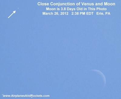 enus / Moon Conjunction of 2012 - Airplanes and Rockets