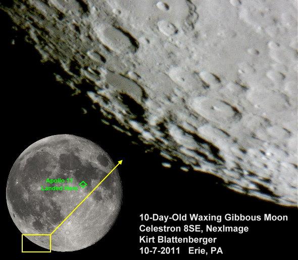 Celestron Nexstar 8se Moon Moon Photo Through Nexstar 8se