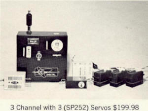 OS Digital 3-Channel Radio Control System - Airplanes and Rockets