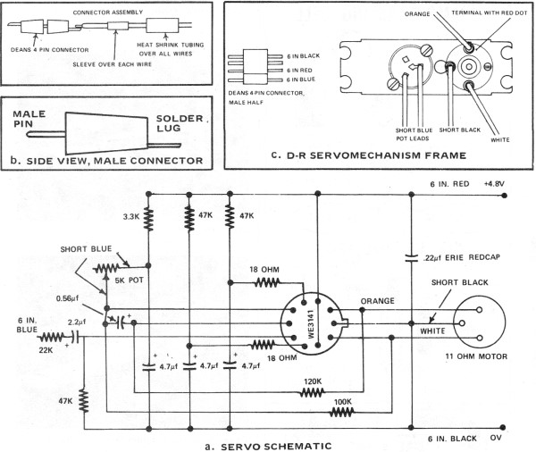 aam commander rc system article part 2 1972 aam airplanes aam commander 2 channel r c system servo wiring