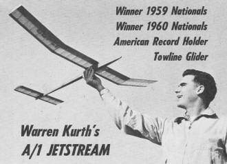 A/1 Jetstream Towline Glider, November 1960 American Modeler Magazine - Airplanes and Rockets