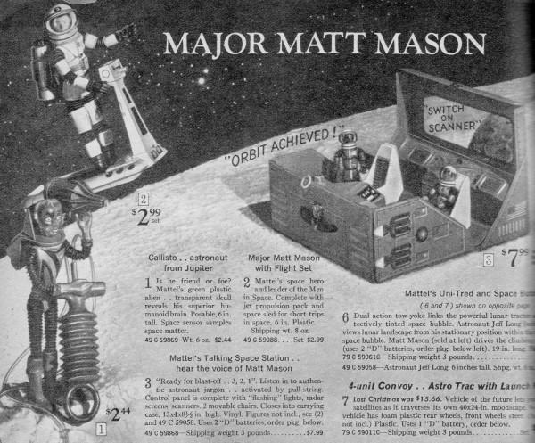 Major Matt Mason from the 1969 Sears Christmas Wish Book
