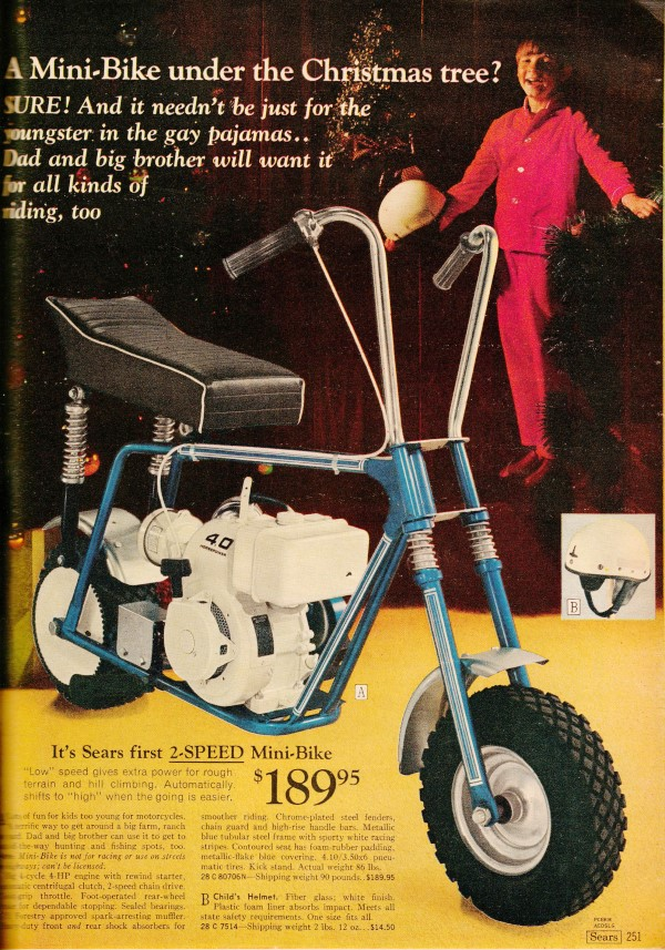 minibikes from the 1969 sears christmas wish book airplanes and rockets - Sears Christmas Catalog
