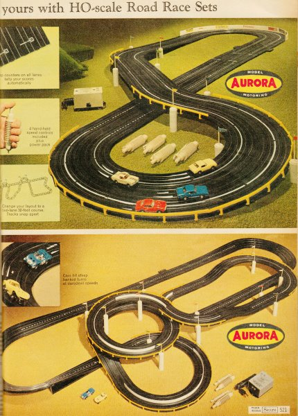 Vintage Electric Race Car Sets