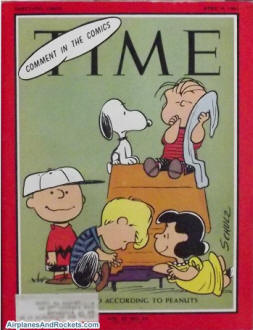The World According to Peanuts, Time Magazine April 9, 1965 - Airplanes and Rockets