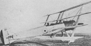Prototype Armstrong-Whitworth F.K. 10 with shallow fuselage and 110-hp Clerget engine - Airplanes and Rockets