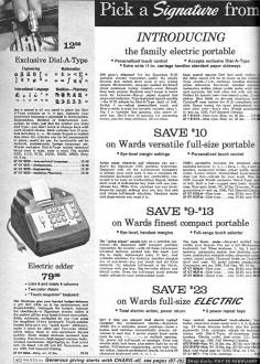 the advent of the adding machine typewriter and register had the greatest impact on