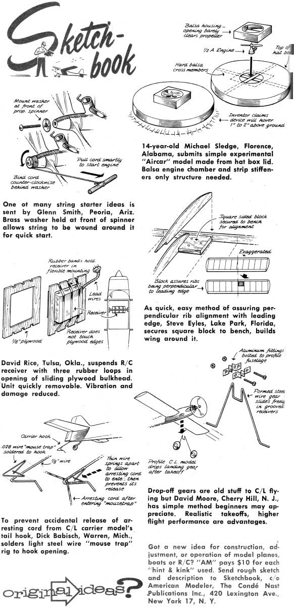 sketchbook  march  april 1963 american modeler