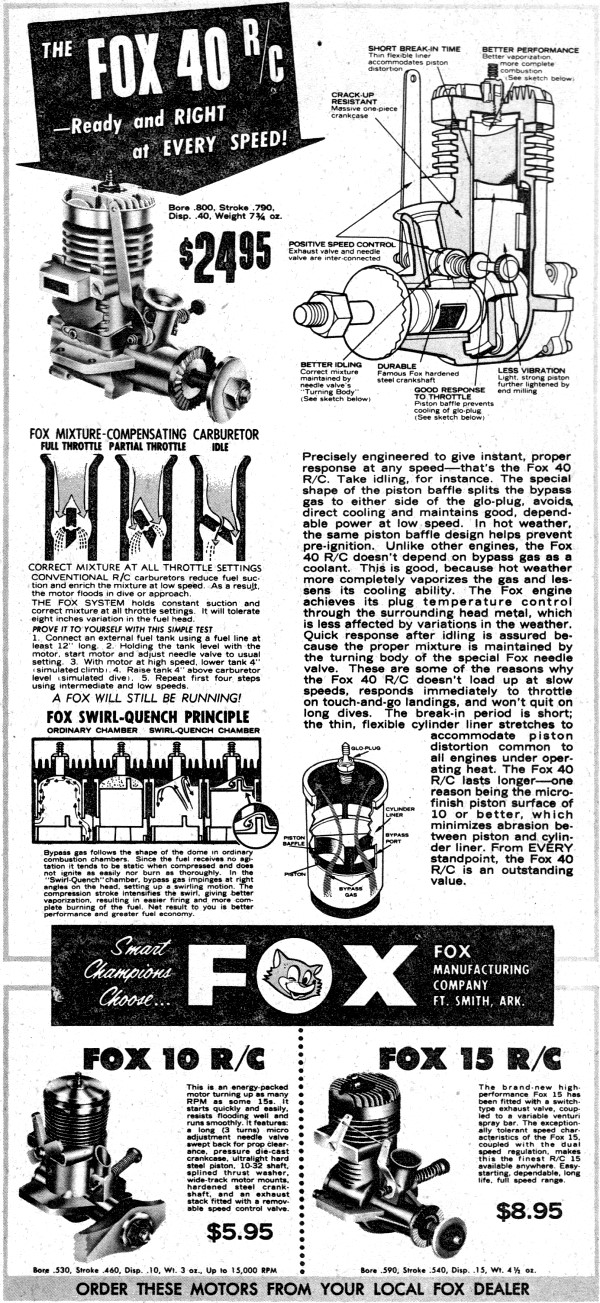 Fox 40 RC Advertisement from April 1962 edition of ...