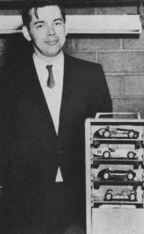 Rolf Rosengren with his original carrying case and 1/24th scale cars - Airplanes and Rockets