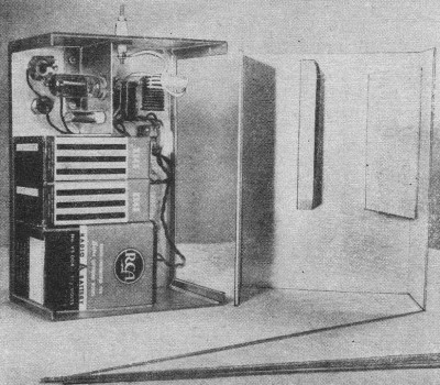 Completed Chassis, The Lorenz Transmitter, December 1954 Popular Electronics - Airplanes and Rockets