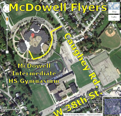 McDowell Flyers at McDowell Intermediate High School Gymnasium - Airplanes and Rockets