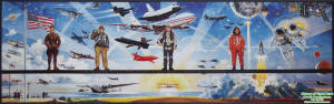 History of Flight Mural (Udvar-Hazy) - Airplanes and Rockets