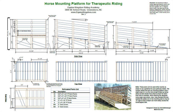 Therapeutic Horse Riding Mounting Platform & Ramp - Airplanes and Rockets