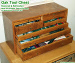 Antique Oak Tool Chest Restoration - Airplanes and Rockets