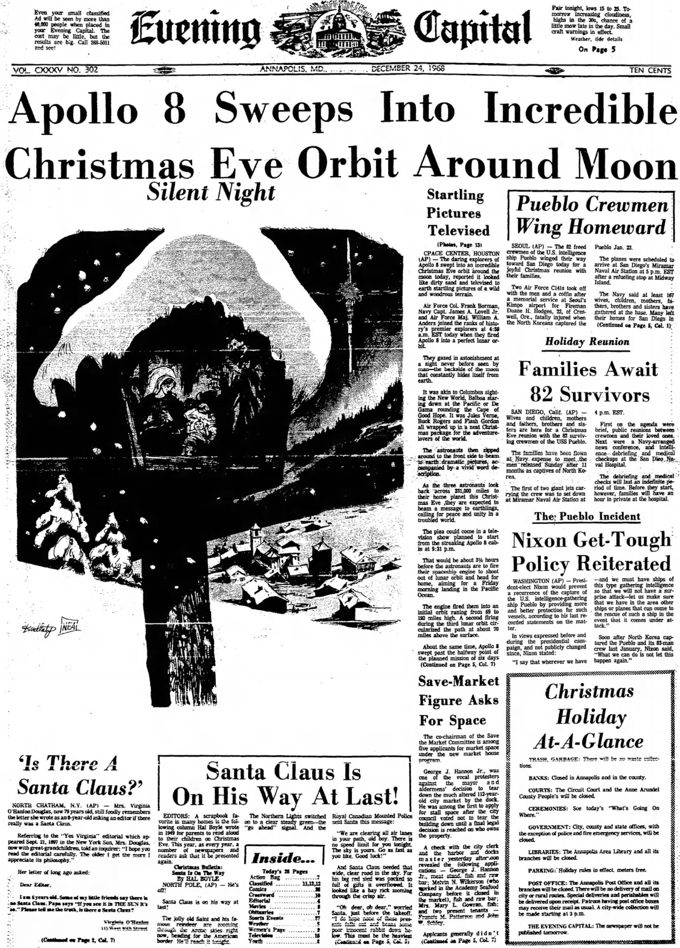 Image result for apollo 8 orbit moon 1968