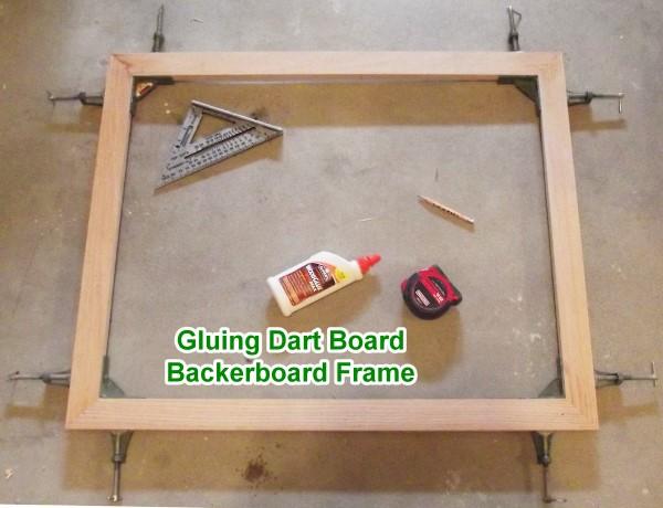 Oak Framed Backerboard For Halex Dart Board Airplanes