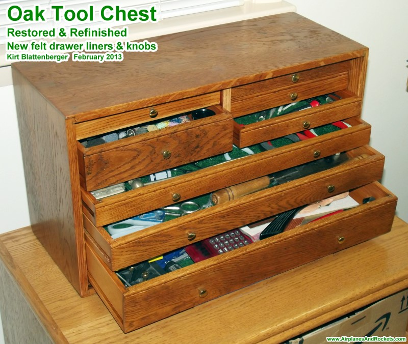 Antique Oak Tool Chest Restoration Airplanes And Rockets