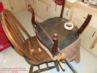 Queen Anne Chair Leg Repair - Airplanes and Rockets