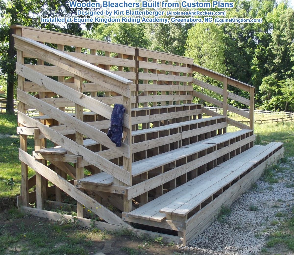 4 Level Wooden Bleachers Plans Airplanes And Rockets